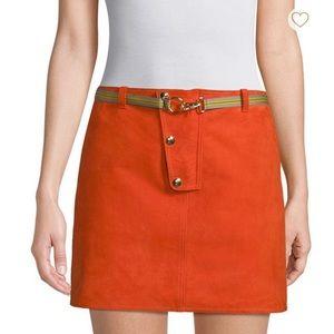 BRAND NEW: Diane Von Furstenberg Suede Mini Skirt